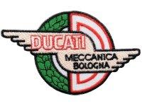 イタリア 刺繍ワッペン DUCATI Meccanica Bologna 【カラー・ブラック】【カラー・ホワイト】【カラー・レッド】【カラー・グリーン】