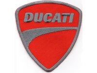 イタリア 刺繍ワッペン DUCATI 【カラー・グレー】【カラー・レッド】