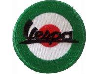 イタリア 刺繍ワッペン Vespa 【カラー・ホワイト】【カラー・レッド】【カラー・グリーン】