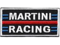 イタリア 刺繍ワッペン MARTINI RACING サイズ小 【カラー・ホワイト】【カラー・レッド】【カラー・ブラック】