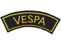 イタリア 刺繍ワッペン Vespa  【カラー・ブラック】【カラー・イエロー】