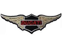 イタリア 刺繍ワッペン DUCATI 【カラー・ブラック】【カラー・ホワイト】【カラー・レッド】