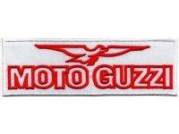 イタリア 刺繍ワッペン Moto Guzzi 【カラー・ホワイト】【カラー・レッド】