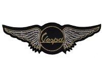 イタリア 刺繍ワッペン Vespa fly【カラー・グレー】【カラー・ブラック】