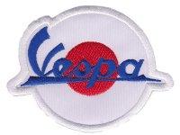 イタリア 刺繍ワッペン Vespa【カラー・ホワイト】【カラー・ レッド】【カラー・ ブルー】