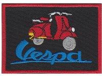 イタリア 刺繍ワッペン Vespa  【カラー・ブラック】【カラー・レッド】【カラー・ブルー】