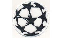 刺繍ワッペン サッカーボール CHAMPIONS LEAGUE【カラー・ホワイト】【カラー・ブラック】