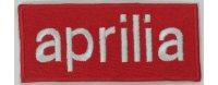 イタリア 刺繍ワッペン APRILIA 【カラー・ホワイト】【カラー・レッド】