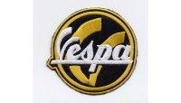 イタリア 刺繍ワッペン Vespa  【カラー・ブラック】【カラー・イエロー】【カラー・ホワイト】