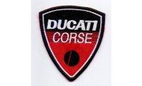 イタリア 刺繍ワッペン DUCATI 【カラー・ホワイト】【カラー・レッド】【カラー・ブラック】