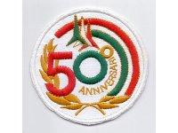 イタリア 刺繍ワッペン FRECCE TRICOLORI 50 ANIVERSARIO 【カラー・イエロー】【カラー・ホワイト】【カラー・レッド】【カラー・グリーン】