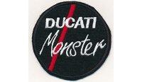 イタリア 刺繍ワッペン DUCATI MONSTER 【カラー・ブラック】【カラー・ホワイト】【カラー・レッド】