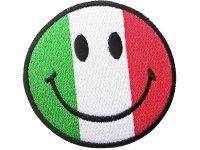 イタリア 刺繍ワッペン イタリア国旗 Smiley Italiana 【カラー・ホワイト】【カラー・レッド】【カラー・グリーン】