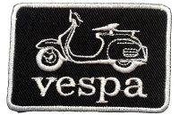 イタリア 刺繍ワッペン Vespa【カラー・ホワイト】【カラー・ブラック】