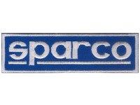 イタリア 刺繍ワッペン sparco 【カラー・ブルー】【カラー・ホワイト】