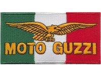 イタリア 刺繍ワッペン Moto Guzzi 【カラー・イエロー】【カラー・ホワイト】【カラー・レッド】【カラー・グリーン】
