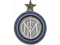 イタリア 刺繍ワッペン INTER  【カラー・ホワイト】【カラー・ブラック】【カラー・ブルー】
