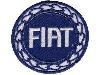イタリア 刺繍ワッペン FIAT【カラー・ホワイト】【カラー・ ブルー】