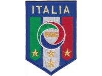 イタリア 刺繍ワッペン FIGC ITALIA 【カラー・イエロー】【カラー・ホワイト】【カラー・レッド】【カラー・グリーン】【カラー・ブルー】