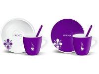 エスプレッソコーヒーカップ 2客ペアセット Bialetti(ビアレッティ)FIRENZE【カラー・ホワイト】【カラー・パープル】