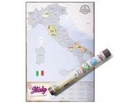 イタリア地図 スクラッチ・マップ 41 cm x 60 cm