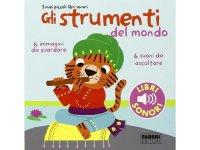 イタリア語で読む、音が出る絵本 世界の楽器 対象年齢3歳以上 【A1】