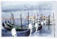 アンティーク風サインプレート イタリア ヴェネツィア Venezia ゴンドラ 30x20cm【カラー・ブルー】