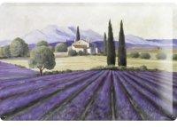 アンティーク風サインプレート イタリア トスカーナの風景 ラベンダー畑 30x20cm【カラー・パープル】【カラー・グリーン】
