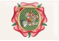 アンティーク風サインプレート 騎馬画  赤十字 30x20cm【カラー・マルチ】【カラー・イエロー】