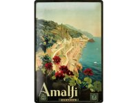 アンティーク風サインプレート イタリア アマルフィの海岸 Amalfi 30x20cm【カラー・マルチ】