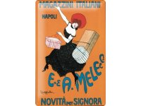 アンティーク風サインプレート イタリア ナポリ Napoli ショッピング アンティーク広告 30x20cm【カラー・マルチ】