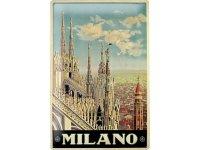 アンティーク風サインプレート イタリア ミラノ Milano 30x20cm【カラー・マルチ】【カラー・ブルー】【カラー・ブラック】