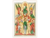 アンティーク風サインプレート 聖書から神とマリアと天使 30x20cm【カラー・イエロー】【カラー・グリーン】【カラー・オレンジ】
