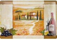 アンティーク風サインプレート イタリア トスカーナの景色 赤ワイン 30x20cm【カラー・マルチ】