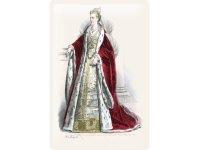 アンティーク風サインプレート 肖像画 ブルジョワ 赤いコートの婦人 30x20cm【カラー・レッド】【カラー・イエロー】【カラー・ホワイト】