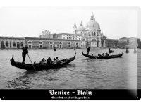 アンティーク風サインプレート イタリア ヴェネツィア 30x20cm【カラー・ブラック】【カラー・ホワイト】