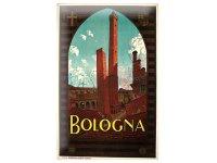 アンティーク風サインプレート イタリア ボローニャ Bologna 30x20cm【カラー・ブラウン】