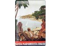 アンティーク風サインプレート イタリア リグーリア Santa Margherita Liguria Portofino 30x20cm【カラー・グリーン】【カラー・ブラック】