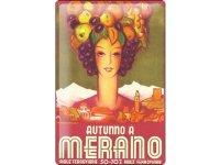 アンティーク風サインプレート イタリア 秋のメラーノ Merano 30x20cm【カラー・レッド】【カラー・イエロー】