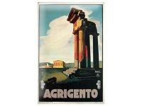 アンティーク風サインプレート イタリア アグリジェント シチリア Agrigento 30x20cm【カラー・マルチ】