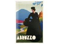 アンティーク風サインプレート イタリア アブルッツォ Abruzzo 30x20cm【カラー・マルチ】