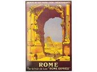 アンティーク風サインプレート イタリア ローマ コロッセオ Colosseo Roma 30x20cm【カラー・ブルー】【カラー・イエロー】