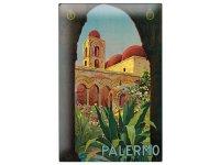 アンティーク風サインプレート イタリア パレルモ シチリア Palermo 30x20cm【カラー・ブラウン】【カラー・グリーン】