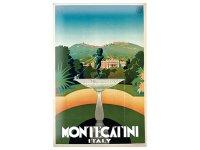 アンティーク風サインプレート イタリア モンテカティーニ Montecatini 30x20cm【カラー・マルチ】【カラー・グリーン】