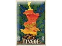 アンティーク風サインプレート イタリア フィウッジ Fiuggi 30x20cm【カラー・マルチ】【カラー・グリーン】【カラー・オレンジ】