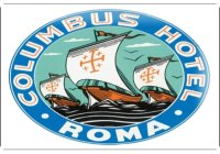 アンティーク風サインプレート イタリア ローマ Roma Hotel 30x20cm【カラー・ブルー】【カラー・グリーン】