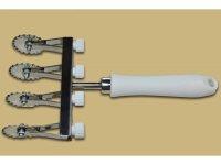 手打ちパスタ用 可動式4枚刃波型トルテッリーニ、トルテッローニ、クレシェンティーネ(ニョッコ・フリット)カッター