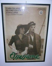 イタリア 映画 アンティークポスター Ossessione (1942年) 郵便配達は二度ベルを鳴らす ルキノ・ヴィスコンティ 50 x 70 cm