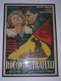 イタリア 映画 アンティークポスター Rocco e i suoi fratelli (1960年) 若者のすべて ルキノ・ヴィスコンティ 140 x 100 cm