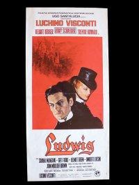 イタリア 映画 アンティークポスター Ludwig (1973年) ルードウィヒ神々の黄昏 ルキノ・ヴィスコンティ 33 x 70 cm locandine